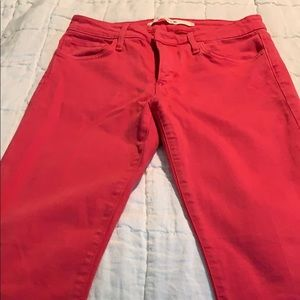 Joes Salmon colored jeans size 28